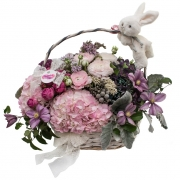 Коллекция цветов в корзинах
